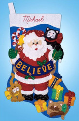 Design Works - Believe Stocking