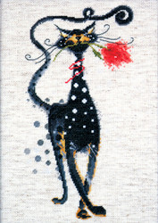 Design Works - Jasper (Cat with Rose)