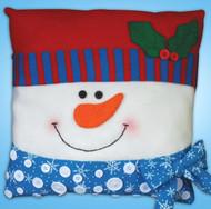 Design Works - Snowman Button Pillow