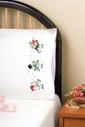Design Works - Skating Snowmen Pillowcases (2)