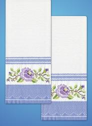 Design Works - Purple Rose Towels (2)