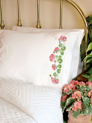 Dimensions - Summer Geraniums Pillow Cases (2)
