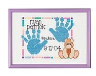 Janlynn - Baby Handprints Birth Announcement