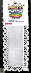 Janlynn - White 18 Ct Cross Stitch Lace Bookmark