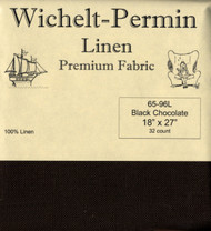 Wichelt - 32 Ct Black Chocolate Linen 18 x 27 in