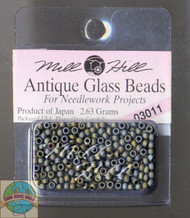 Mill Hill Antique Glass Beads 2.63g  Pebble Gray