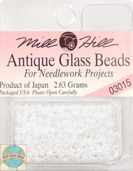 Mill Hill Antique Glass Beads 2.63g  Snow White