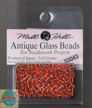 Mill Hill Antique Glass Beads 2.63g Orientl Red