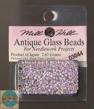 Mill Hill Antique Glass Beads 2.63g Crystal Lilac