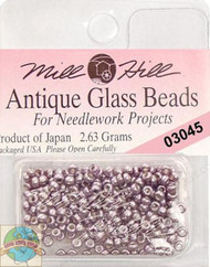 Mill Hill Antique Glass Beads 2.63 Metallic Lilac