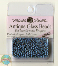 Mill Hill Antique Glass Beads 2.63g M Cadet Blue