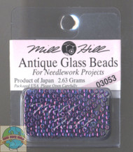 Mill Hill Antique Glass Beads 2.63g Purple Passion