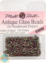 Mill Hill Antique Glass Beads 2.63g Green Velvet