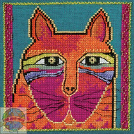 Mill Hill / Laurel Burch - Wild Orange Cat (LINEN)