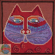 Mill Hill / Laurel Burch - Red Cat (LINEN)