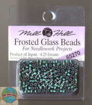 Mill Hill Frosted Glass Seed Beads 4.25 Bottle Green