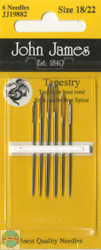 John James - 6 Tapestry Needles (sizes 18/22)