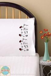 Design Works - Blackbirds Pillowcases (2)