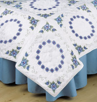 Design Works - Blue Rose Quilt Blocks (6)