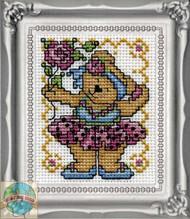 Design Works - Ballerina Bear Picture Kit w/Frame