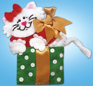 Design Works - Cat With Bow Ornament