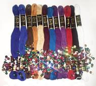 Design Works - Zenbroidery 12 Skein Jewel Tones Trim Pack