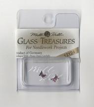 Mill Hill Glass Treasures - Petite Butterfly Matte Light Amethyst