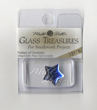 Mill Hill Glass Treasures - Large Flat Star Royal Blue