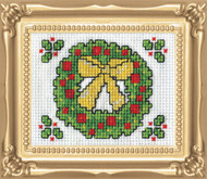 Design Works -  Wreath Picture Kit w/Frame