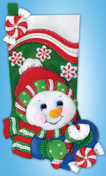 "Design Works - ""Snowman"" Stocking"