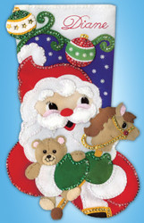 Design Works - Santa With Toys Stocking