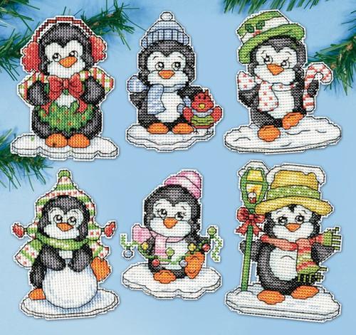 Design Works Penguins On Ice Ornaments Crossstitchworld