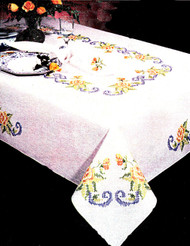 Design Works - Yellow Rose 58in x 104in Tablecloth