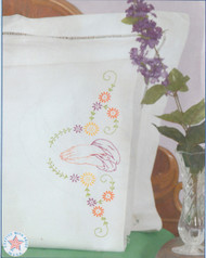 Jack Dempsey Needle Art - Praying Hands Pillowcase Set (2)