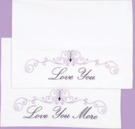 Jack Dempsey Needle Art - Love You Love You More Pillowcase Set (2)