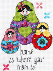 Plaid / Bucilla - My 1st Stitch - Home Is Where Your Mom Is