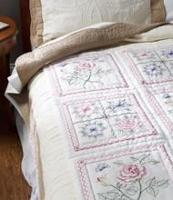 Plaid / Bucilla - Flowers Quilt Blocks (6)