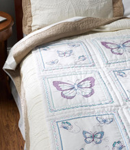 Plaid / Bucilla - Butterfly Quilt Blocks (6)