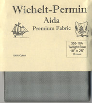 Wichelt - 16 Ct Twilight Blue Aida 18 x 27 in