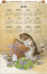 Design Works - Flower Pot Kitten 2018 Calendar
