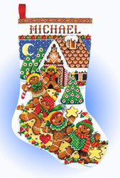 Design Works - Gingerbread Friends Christmas Stocking
