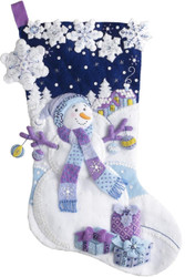 Plaid / Bucilla - Frosty Night Stocking
