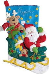Plaid / Bucilla - Santa's Helper Stocking