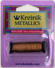 Kreinik Metallics - Very Fine #4 Antique Copper 215C