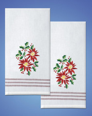 Design Works - Poinsettia Towels (2)