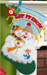 Plaid / Bucilla - Mary Engelbreit Let It Snow Stocking