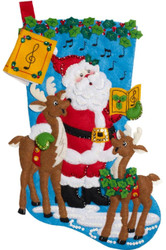 Plaid / Bucilla - Caroling Santa Stocking