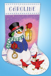 Design Works - Snowman with Lantern Stocking