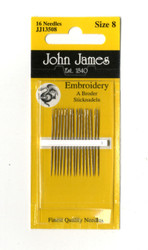 16 John James Size 8 Embroidery Hand Needles