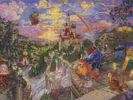 Disney Dreams / Thomas Kinkade - Beauty and the Beast Falling in Love